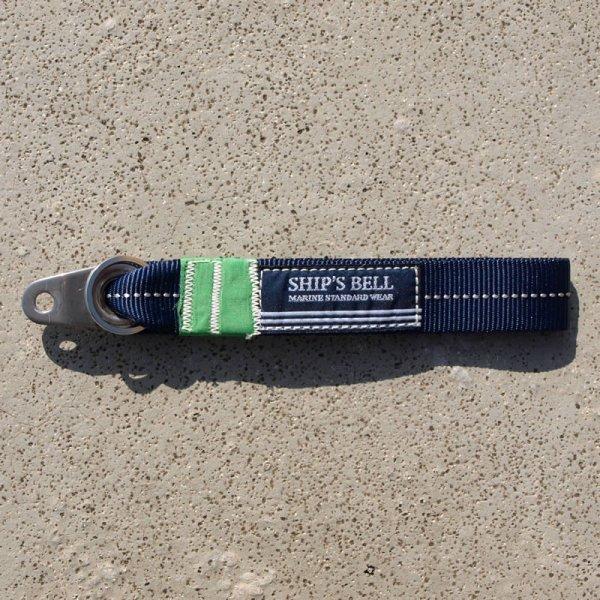 画像1: シップスベル オールハンドメイド グロメット テープキーホルダー (ネイビー) (1)