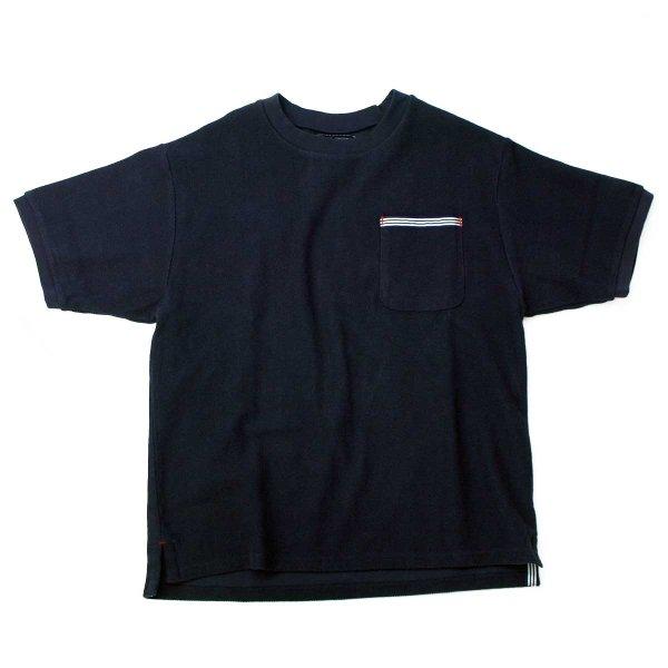 画像1: シップスベル ラッチパイルTシャツ  (ネイビー) (1)