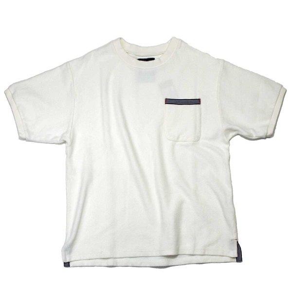 画像1: シップスベル ラッチパイルTシャツ  (ホワイト) (1)