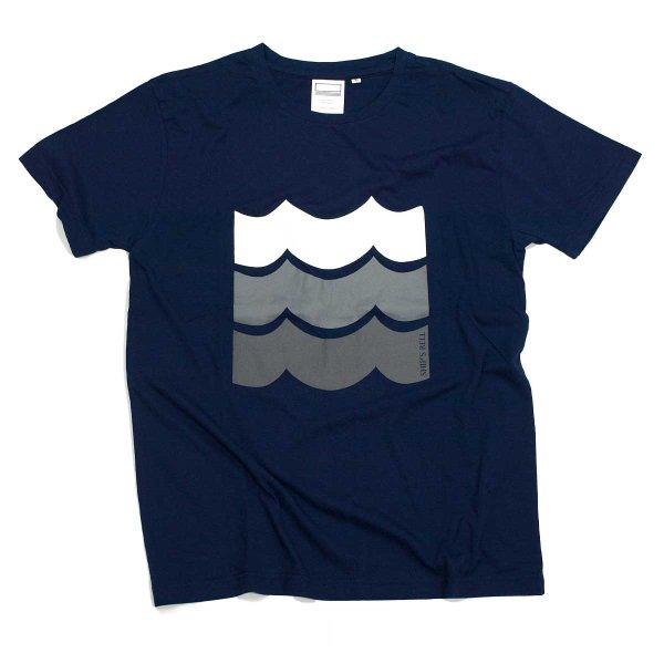 画像1: シップスベル デザインTシャツ (ネイビー) (1)