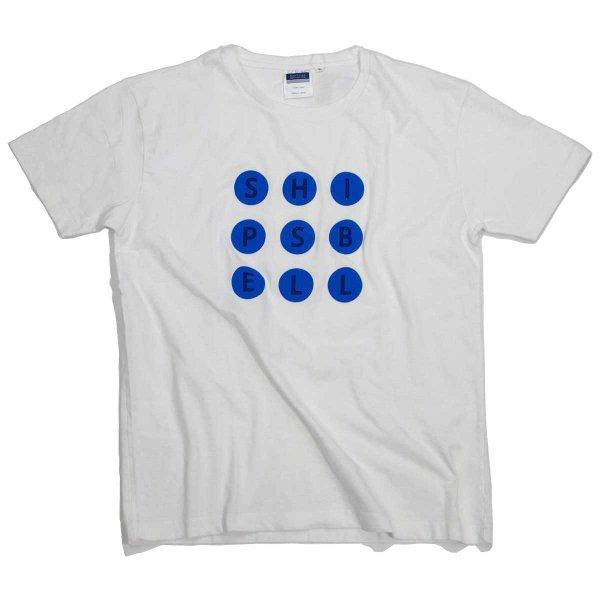 画像1: シップスベル ドットTシャツ (ホワイトxドット) (1)