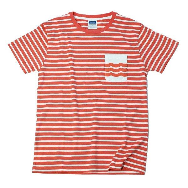 画像1: シップスベル ボーダーTシャツ (ピンク) (1)