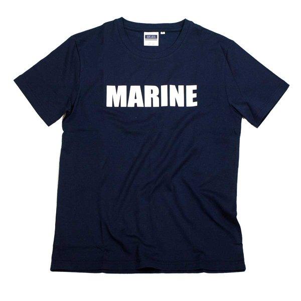 画像1: シップスベル ベーシックロゴTシャツ (ネイビー) (1)