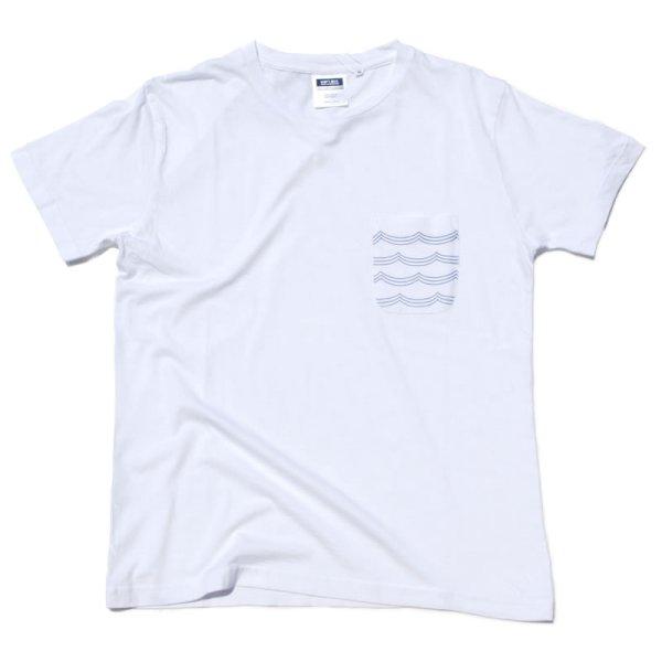 画像1: シップスベル ポケットウェーブTシャツ (ホワイト) (1)